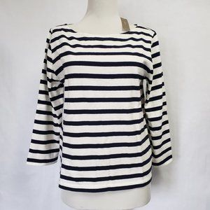 J. CREW Structured boatneck T-shirt in stripe S